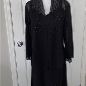 R&M RICHARDS sleeveless sequined dress and jacket!